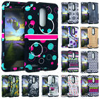 DESIGN Impact Resistant Hybrid Armor Shock Cover Case for ZTE ZMax Pro / Carry