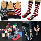 Men's Casual Sport Cotton Socks Striped Multi Colors Fashion Design Winter Warm