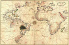 World Map attributed to Diego Ribero, 1527 antique map