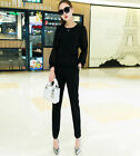 NEW! Fashion Casual Women's clothing long sleeve Shitsuke sport two-piece