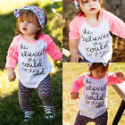 Hot Kids Toddler Infant Baby Girls Clothes Long Sleeve Tops T-shirt Tees 1-6Yrs