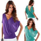 Sexy Women Ladies Short Sleeve T shirt V-Neck Tank Tops Casual Blouse Costume