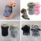 Pet Dog Cat Puppy Winter Warm Thick Coat Jacket Hoodie Clothes Apparel Costume
