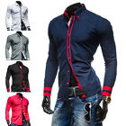 Fashion Mens New Luxury Long Sleeve Casual Slim Fit Stylish Dress Shirts Tops