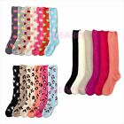 Wholesale Lot Women Winter Socks Cozy Fuzzy Dots Slipper Long Fleece Knee High