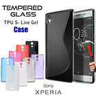 PREMIUM TEMPERED GLASS SCREEN PROTECTOR AND GEL CASE FOR SONY EXPERIA XPERIA 10