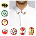 Lapel Pins Collar Tips Silver Superhero Justice League The Avengers Set Gift