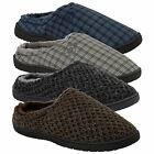 New Mens DUNLOP Warm Indoor Slip On Memory Foam Mule Clogs Slippers Shoes Sizes