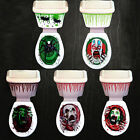 Halloween Party Decoration Toilet Seat Grabber Sticker Cover Scary Fancy Dress