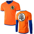 Mens T-Shirt Dragonball Z DBZ Goku Kanji Casual Short Sleeve Tank Tops Tee