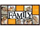 Rectangle Shaped Family 10 Aperture Photo Picture Multi Frame in Cherry Wood