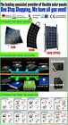 50W/100W Flexible solar panels Kit Mono Generator for Caravan, Boat, RV,Camping