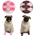 Any Size & Color - Puppia - Argyle - Dog Socks - Pink or Brown - Set of 4