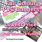 PVC BANNER VINYL BANNERS EVENTS ADVERTISING DISPLAY PROMOTIONAL SIGN FULL COLOUR