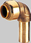 Tectite Push fit fitting for Copper pipes angle 90 ° i/AG verse. Size for Choice
