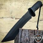 "12"" Hunting Military Survival Combat Fixed Blade Tactical Knife w Sheath Rambo"