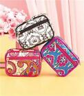 FASHIONABLE PILL VITAMIN CASE PURSE SIZE ONE WEEK CONTAINER ZIP CLOSE-3 PRINTS