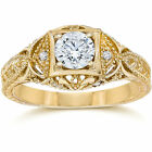 Emery 5/8Ct Vintage Genuine Diamond Engagement 14K Yellow Gold