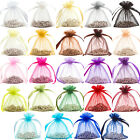 48x Premium Organza Wedding Favour Gift Pouches Bags 7x10cm / 23 Colours