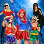 Womens 6 Heroine Fancy Dress Set Carnival Hen's Night Hen Party Costume Outfit
