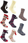 Ladies Long Knitted Slipper Socks with Full Soft Fleece Lining