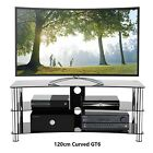 TV Stand Black Glass Silver Leg Stands for Plasma LCD LED 3D 26  32  37  55  60