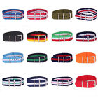 Lady 12mm Nylon Stripes Nato Cambo Watch Strap Wristwatch Bands Buckle Watchband