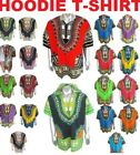 Dashiki African T-Shirt or Hoodie Traditional Hippie Poncho Mexican Mens Womens