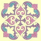 Anemone Quilt Squares #5 Singles-DESIGN 2-Machine Embroidery Design in 4 sizes