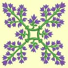 Anemone Quilt Squares #6 Singles-DESIGN 3-Machine Embroidery Design in 4 sizes