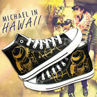 NEW Unisex Black Sneakers Michael Jackson High Ankle Canvas Casual Sport Shoes