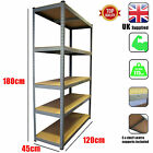 Extra Wide Racking Bays 5 Tier Boltless Garage Shelving Rack Heavy Duty Grey