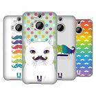 HEAD CASE DESIGNS RAINBOW MOUSTACHE SOFT GEL CASE FOR HTC PHONES 2