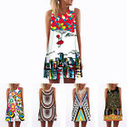 New Women Floral Print Sleeveless Evening Party Cocktail Beach Casual Mini Dress