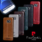 Pierre Cardin Genuine Leather Back  Cover For Samsung Galaxy S7/Edge S9/S8/Plus