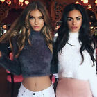 Hot Women's Ladies Girl Long sleeve Tops High-necked Free Size Short Sweaters