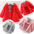 Wool Rabbit Newborn Girl Hooded Coat Jacket Kids Clothes Infant Winter Outerwear