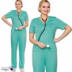 Ladies Adults ER Scrubs Doctor Surgeon Hospital Nurse Fancy Dress Costume Outfit