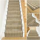 Houndstooth Tweed - Flatweave Sisal Style Stair Carpet Runner Rug Mat Long New