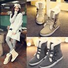 Women Flat Heel Winter Warm Snow Shoes Buckle High Top Cotton Thick Ankle Boots