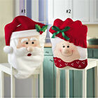 Best Mrs Santa Claus Christmas Banquet Chair Back Cover Xmas Party Home Decor YY