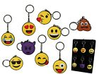 Emoji Emoticon Keyring - iPhone Smiley Faces Yellow Emojis Rubber Key Chain