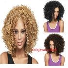 3 Colors New Short Blonde Brown Black Curly Wig Fashion Women's Wig
