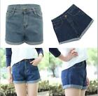 Short Jeans Denim Shorts  Large Size 2 Colors High Waist Womens Hot Sale