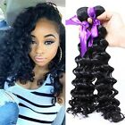 African Womens Spiral Wavy Curly Hair Extensions Lady Black Hair Weft Pieces