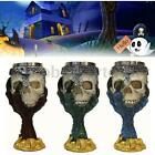 3D Goblet Gothic Stainless Dragons Claw Skull Cup Mug Creepy Halloween Decor NEW