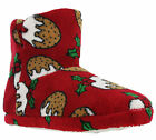 Luxury Christmas Bootie Soft Textile Pudding Slip On Ankle Warm Womens Slippers