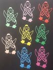 Christmas Penguin Die Cuts - Sets of 8 in Assorted Colours