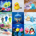 1pc Ocean Sea Animal Fish LED Light Flashlight Keyring Key Chain Kids Gift Toy