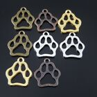 4 Color Dog Footprint Shaped Alloy Handmade Pendant Necklace Jewelry Finding 45x
